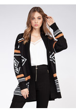 Long Sleeve Tribal Sweater Cardigan