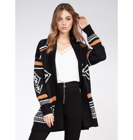 Long Sleeve Tribal Sweater Cardigan