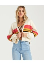 Take Me There, Cropped Stripe Open Front Cardigan With Novelty Yarn