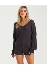 Feel The Breeze, Loose Knit V-Neck Sweater