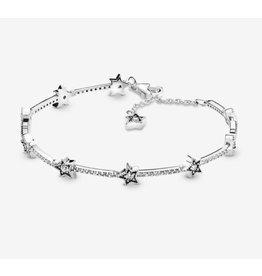 Pandora Pandora Bracelet,598498C01, Celestial Stars, Sterling Silver,Clear CZ