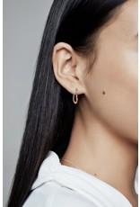 Pandora Pandora Earrings, 288307,Small Asymmetric Heart Rose Gold Hoop