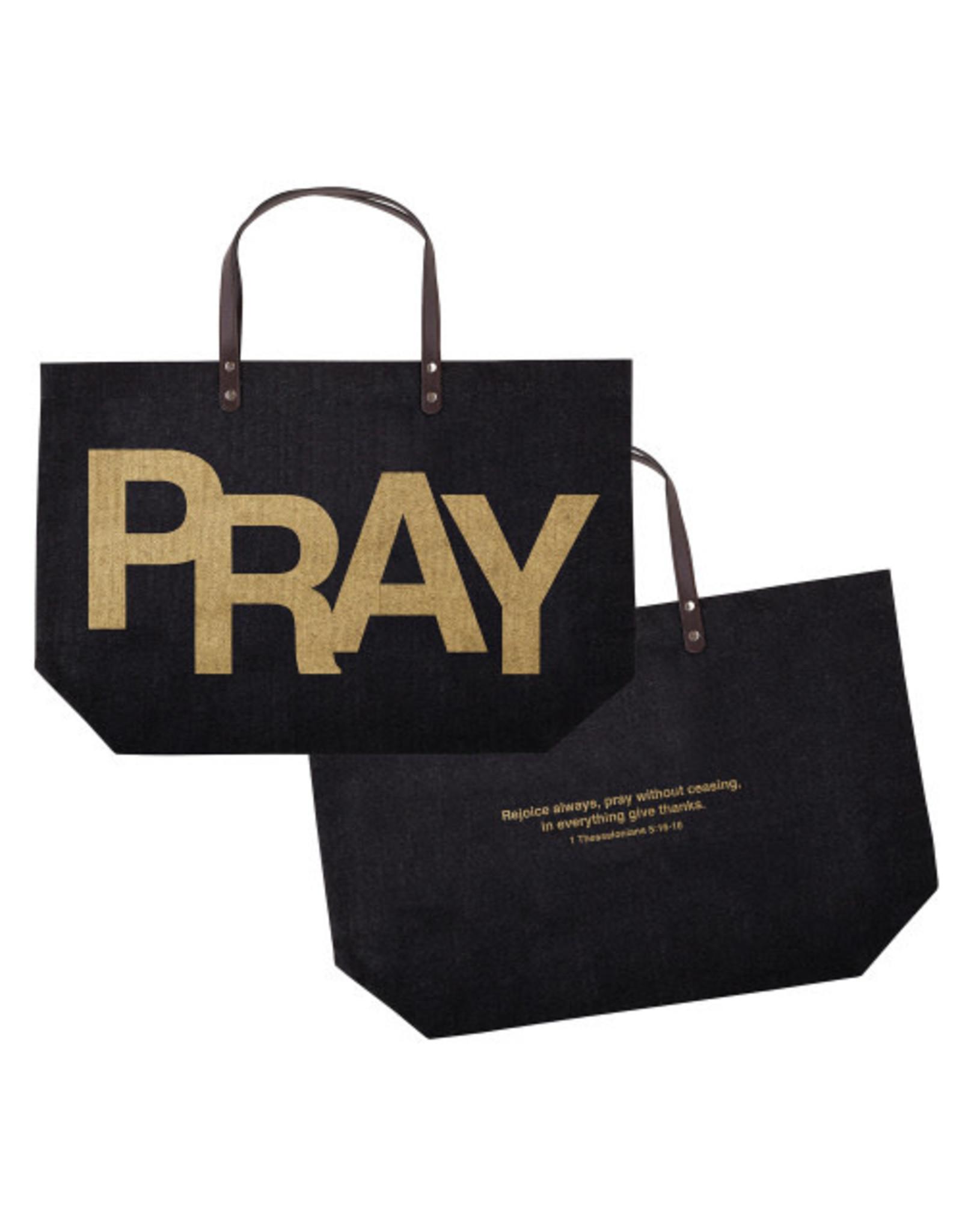 Creative Brands Jute Tote Bag, Pray