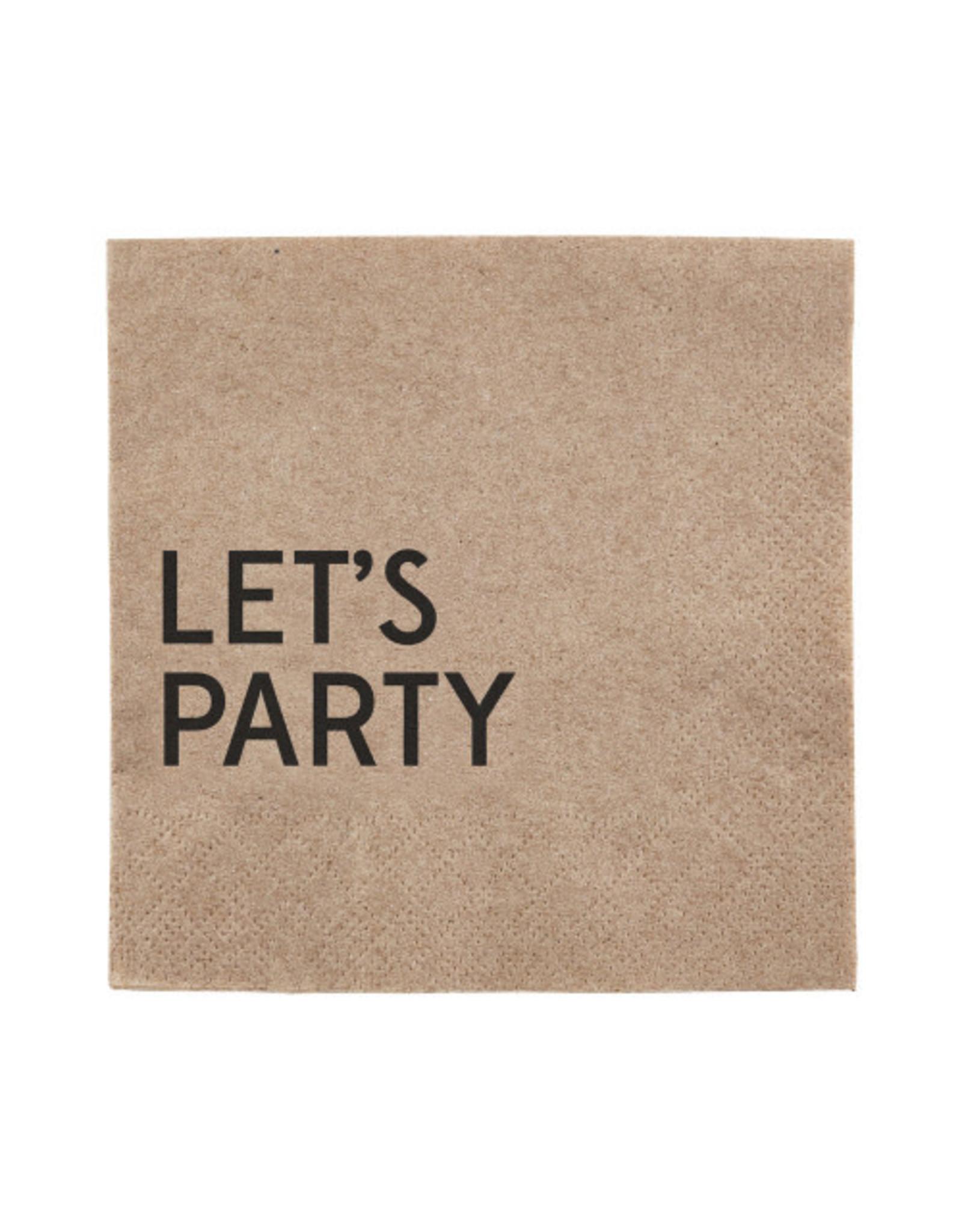 Creative Brands Beverage Napkin, Let's Party