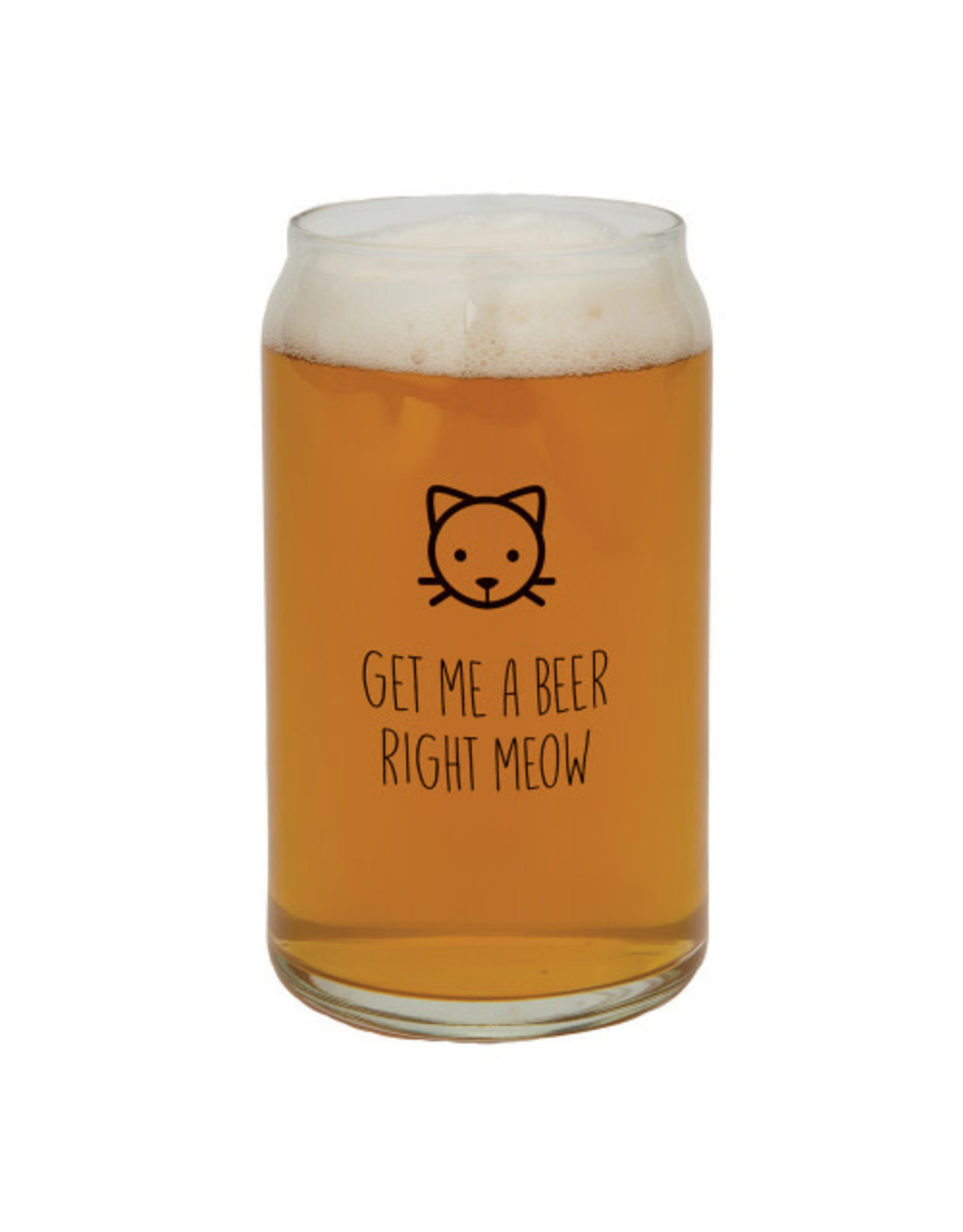 Creative Brands Beer Glass, Get Me A Beer Right Meow