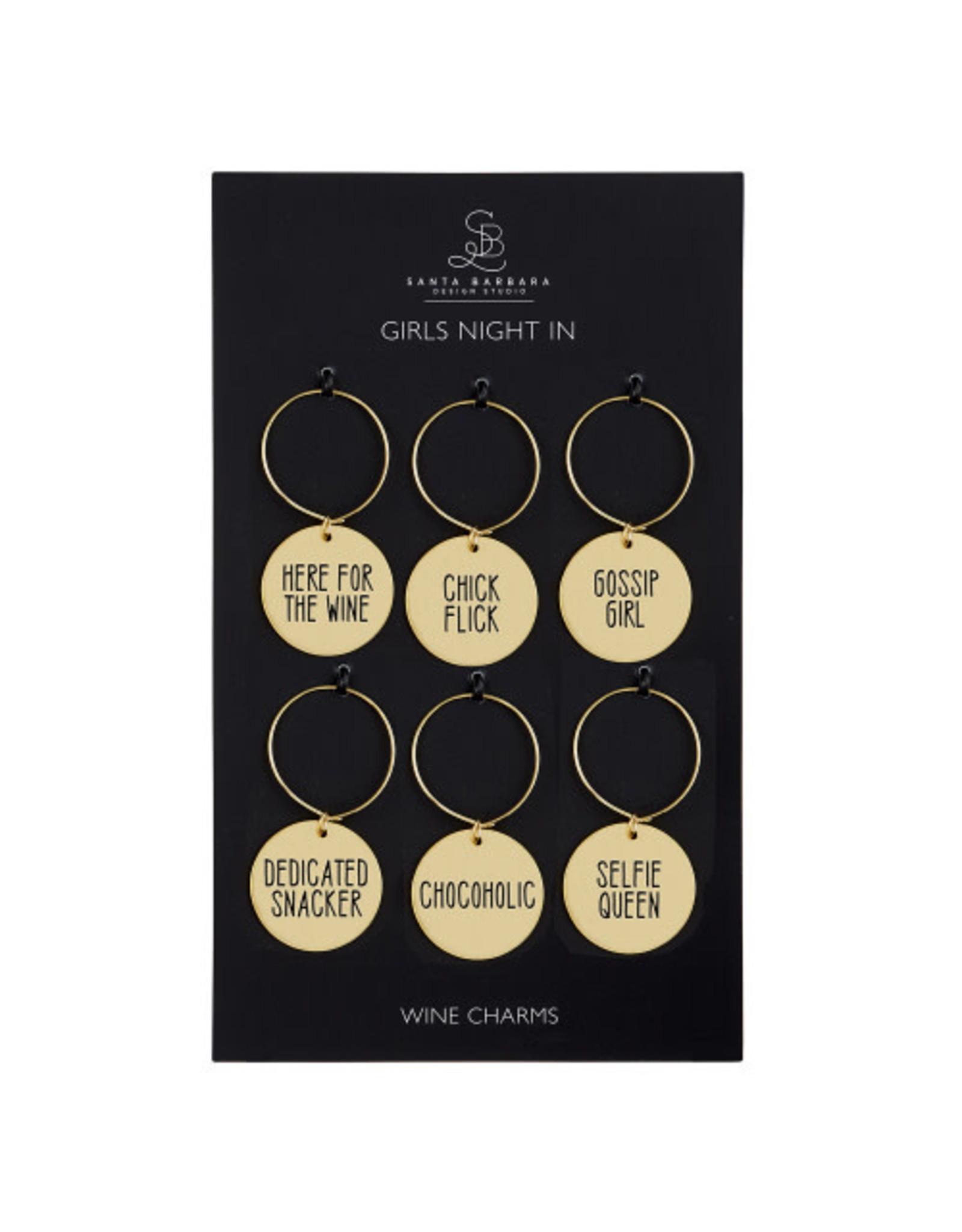 Creative Brands Wine Charm Set, Girls Night In