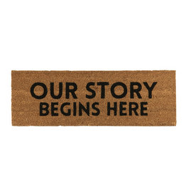 Creative Brands Door Mat, Our Story Begins Here