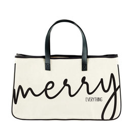 Creative Brands Canvas Tote Bag, Merry Everything
