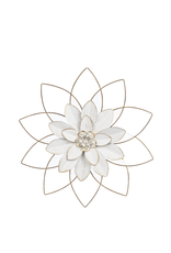 CBK Medium White&Gold Open Work Layered Flower