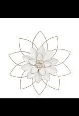 CBK Medium White&Golg Open Work Layered Flower