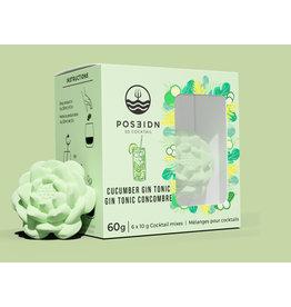Poseidon 3D Cocktail, Cucumber Gin Tonic
