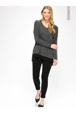 Curvy, Black Fleece Lined Leggings