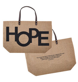 Creative Brands Jute Tote Bag, Hope
