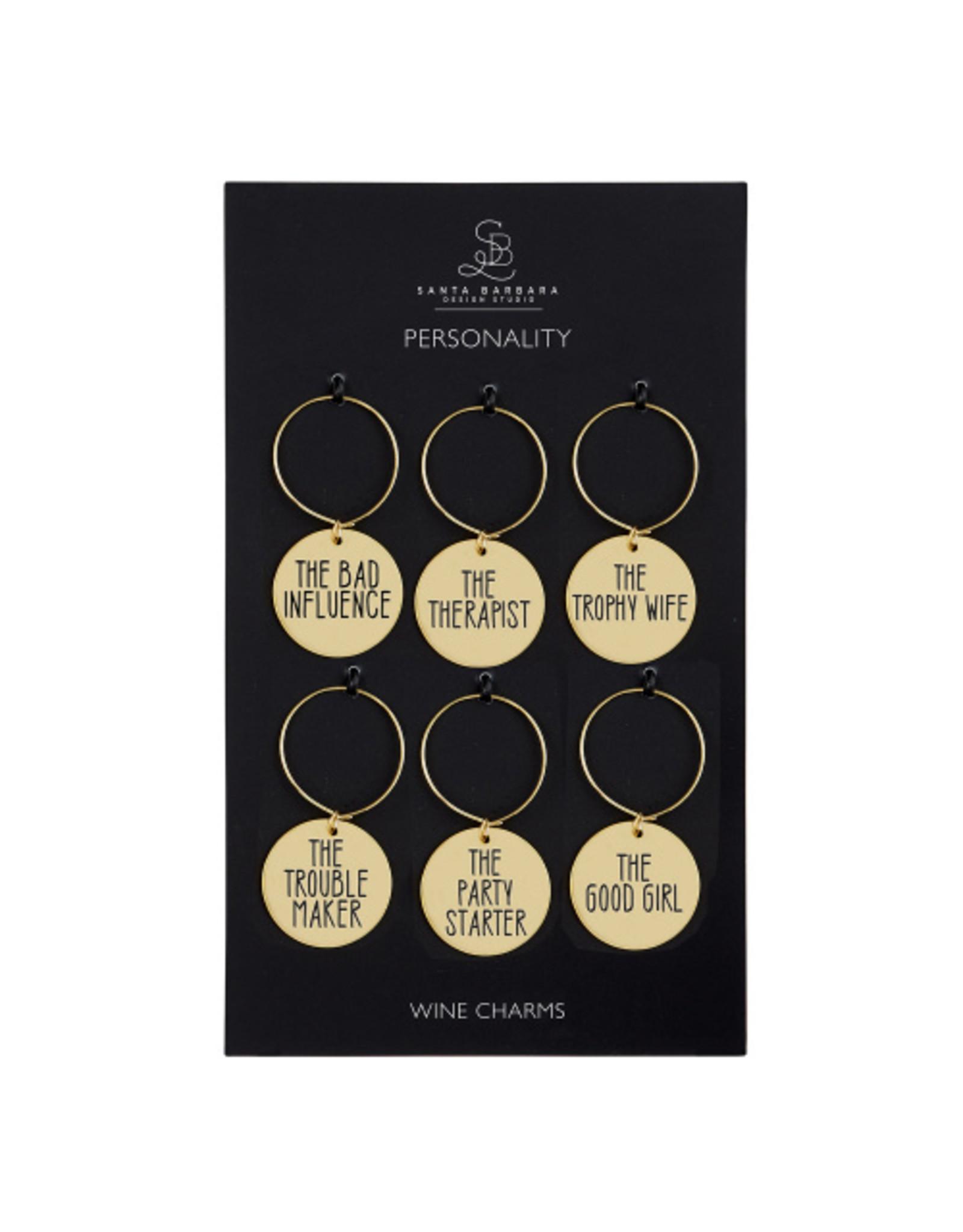 Creative Brands Wine Charm Set, Personality