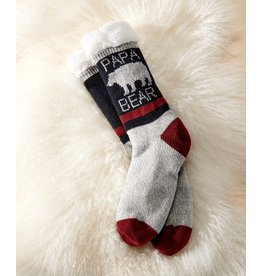 Sherpa Lined Papa Bear Socks