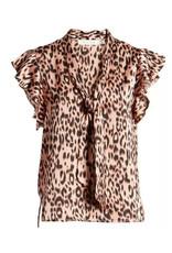 Bishop & Young Top Leo Front Tie Leopard Pink