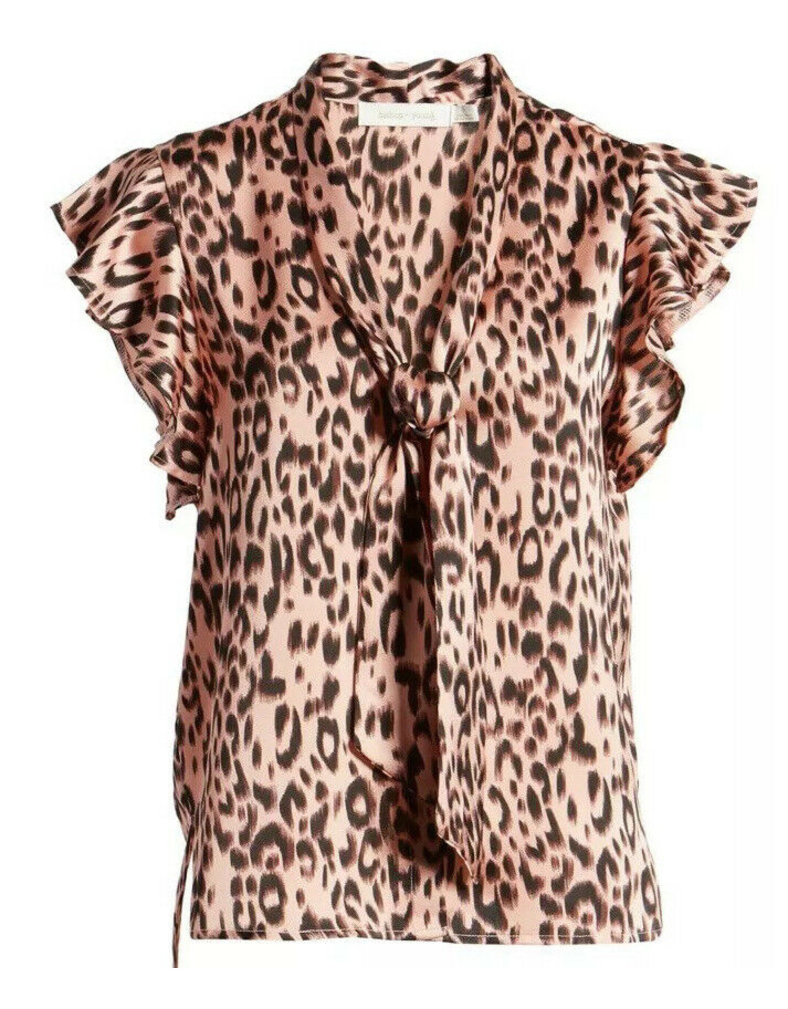Bishop & Young Top Leo Front Tie Leopard Pink