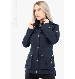 Michael Kors Coat Navy Blue