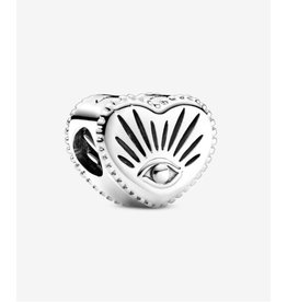 Pandora Pandora Charm,799179C00,All-Seeing Eye & Heart