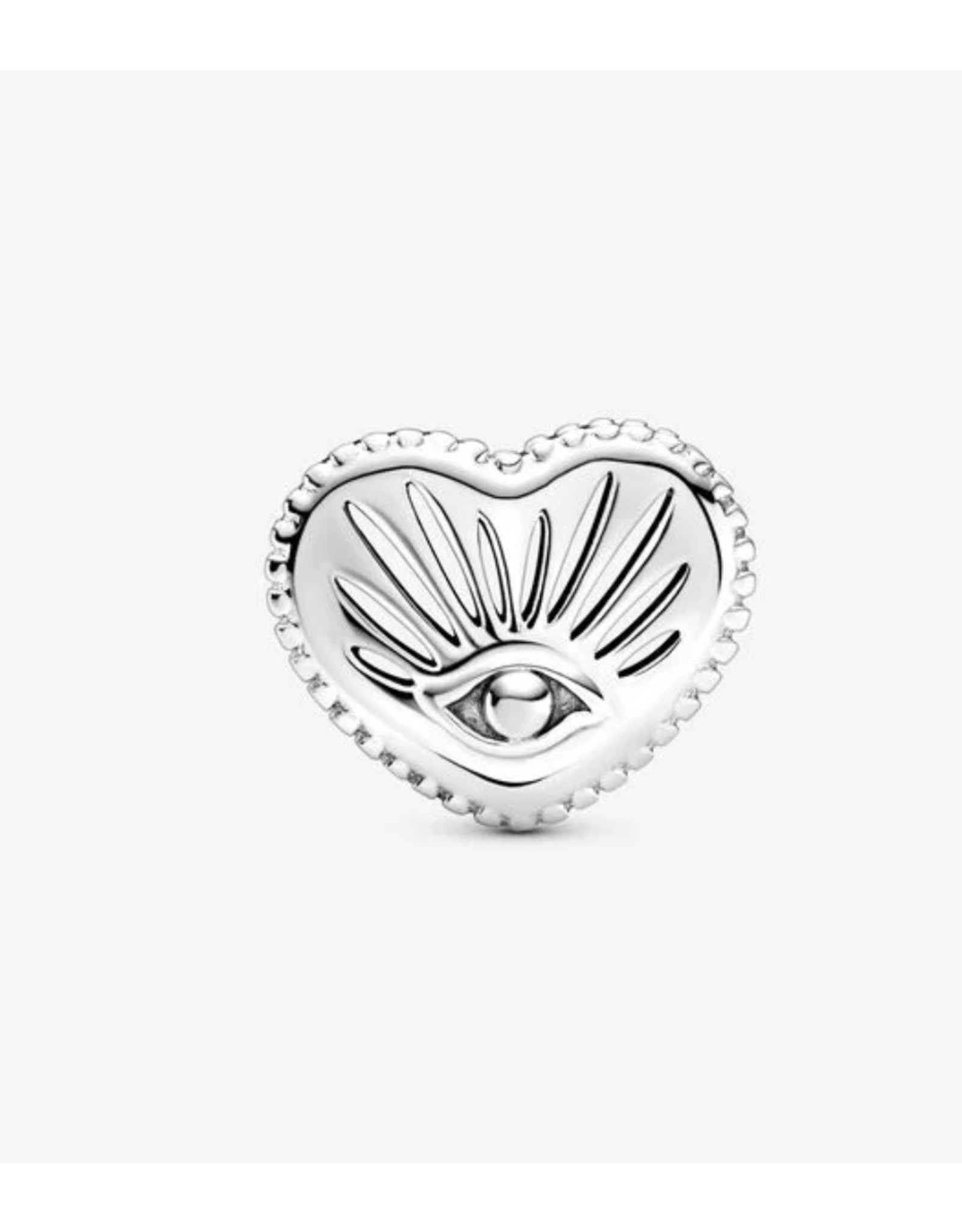 Pandora Pandora Charm,799179C00,All-Seeing Eye & Heart