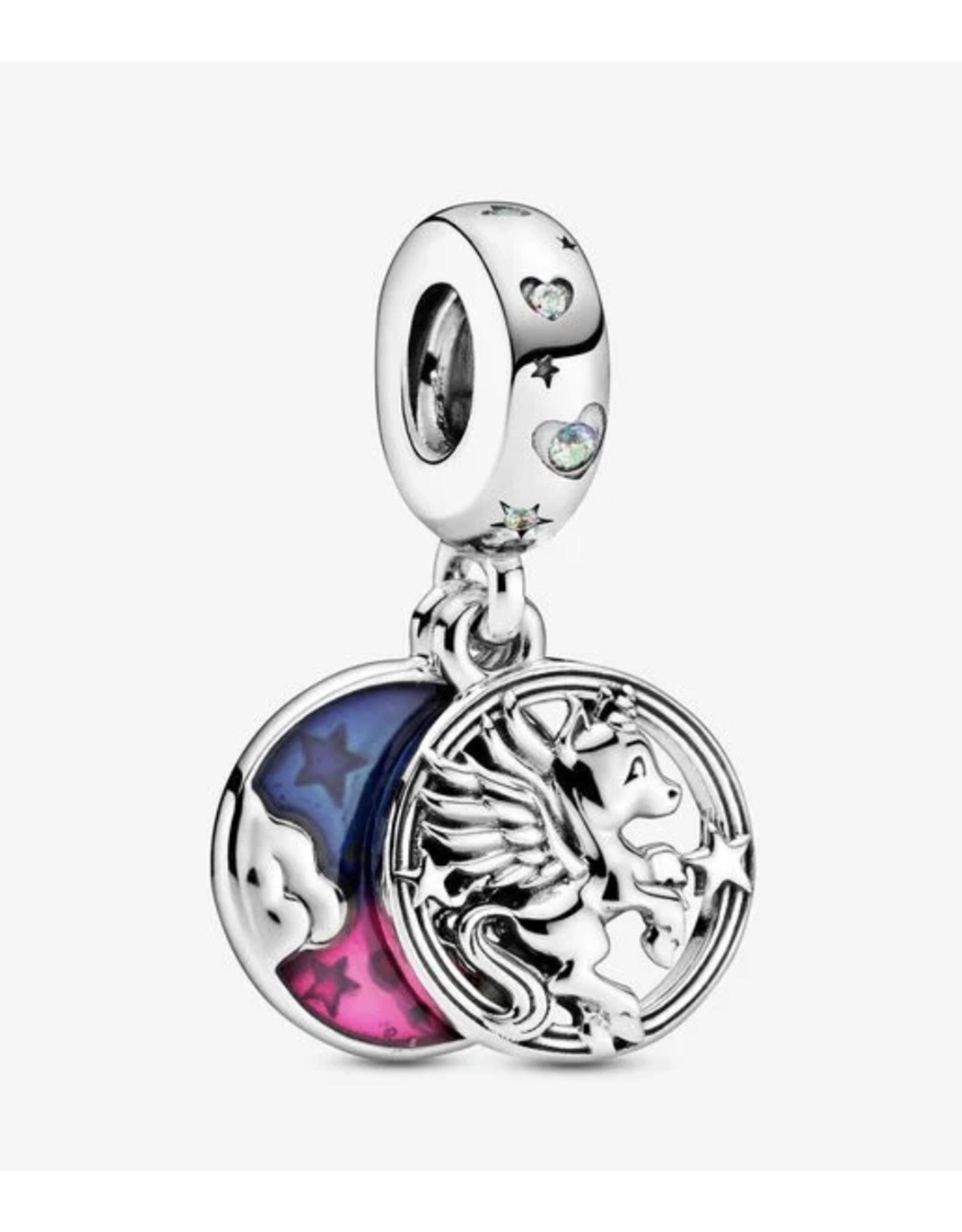 Pandora Pandora Charm,799145C01, Magical Unicorn, Mixed Enamel&Aurora Borealis, Clear CZ