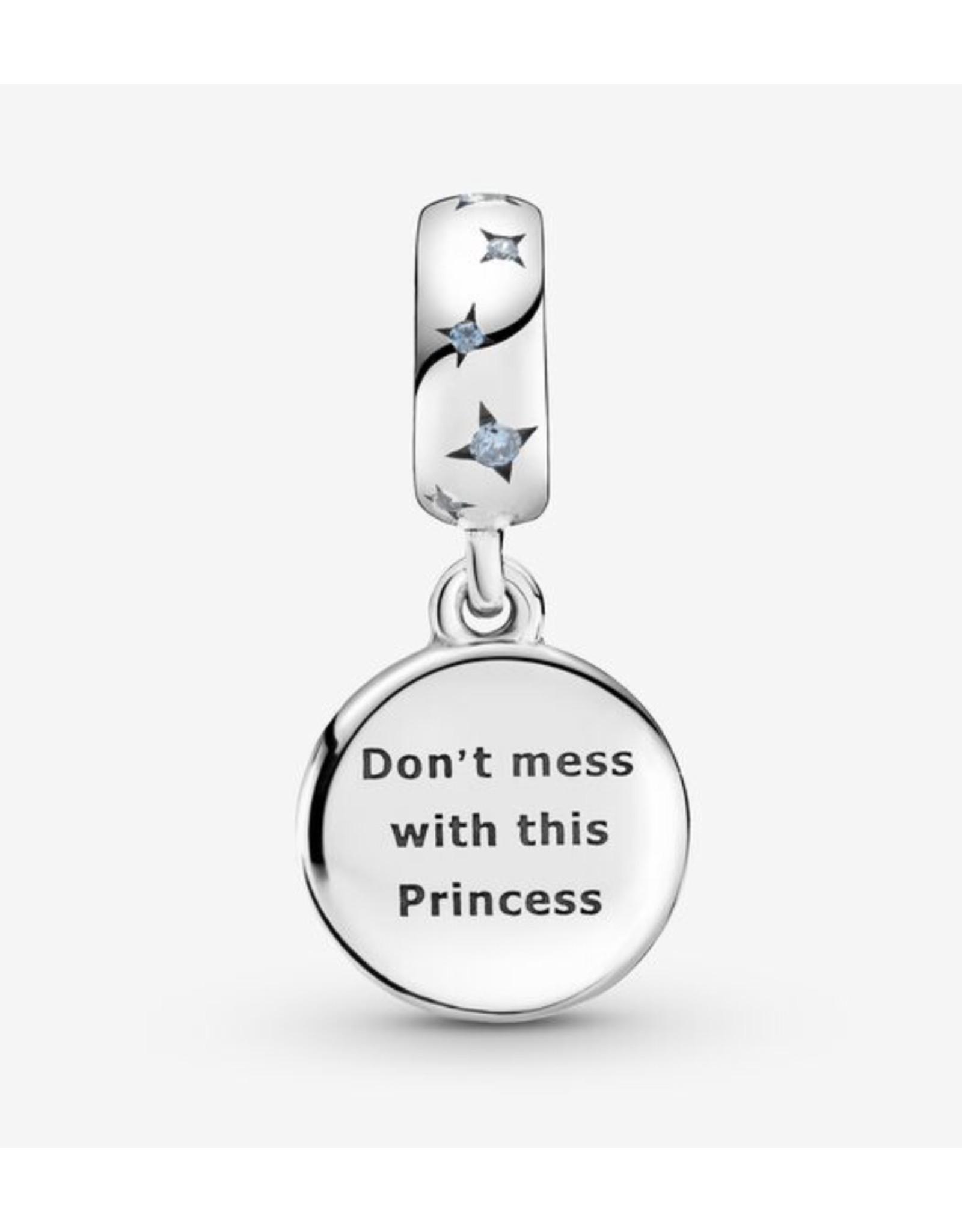 Pandora Pandora Charm,799251C01, Star Wars Princess Leia, Blue Enamel, Crystal&CZ
