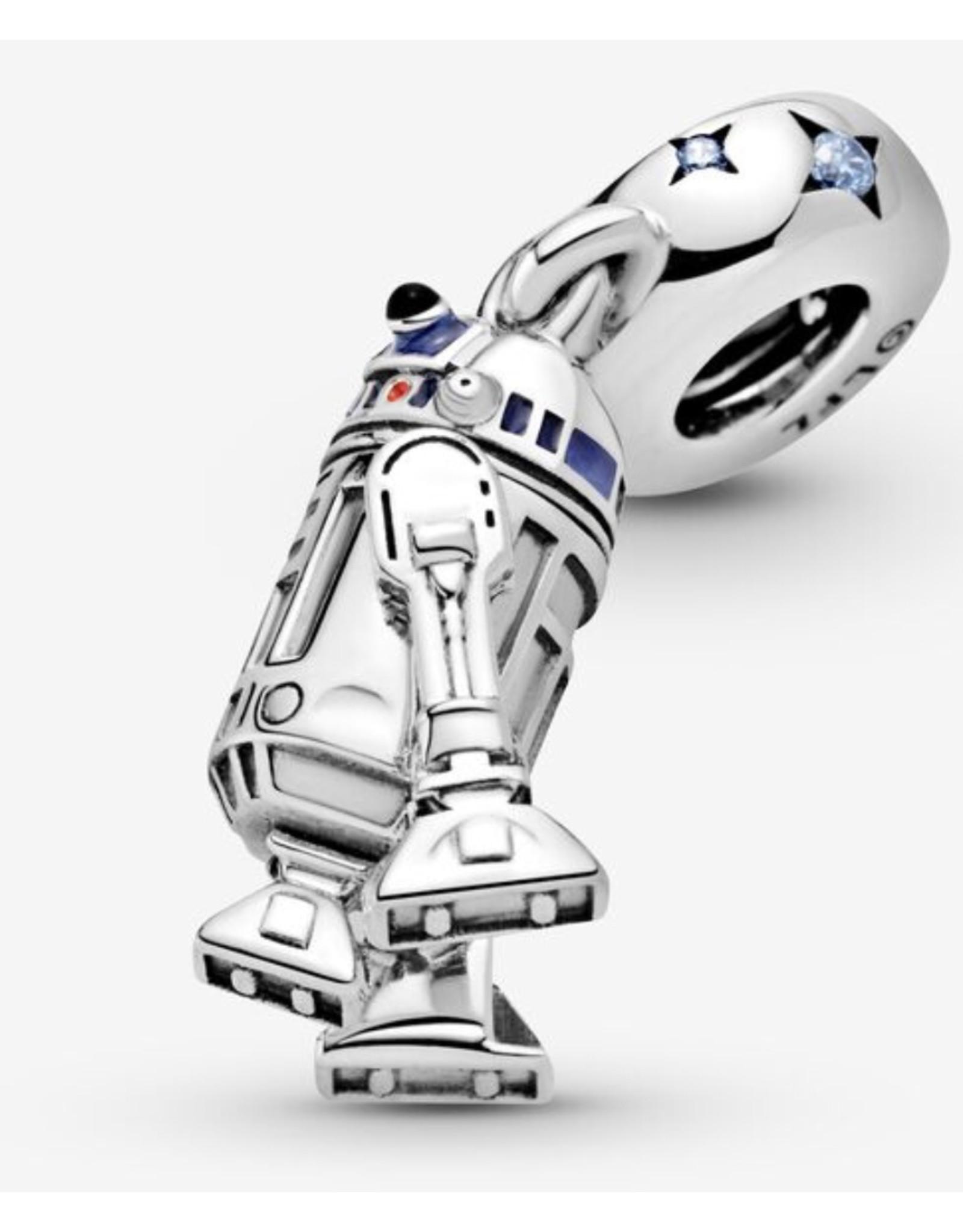 Pandora Pandora Charm,799248C01,Star Wars R2-D2, Mixed Enamel&Blue CZ