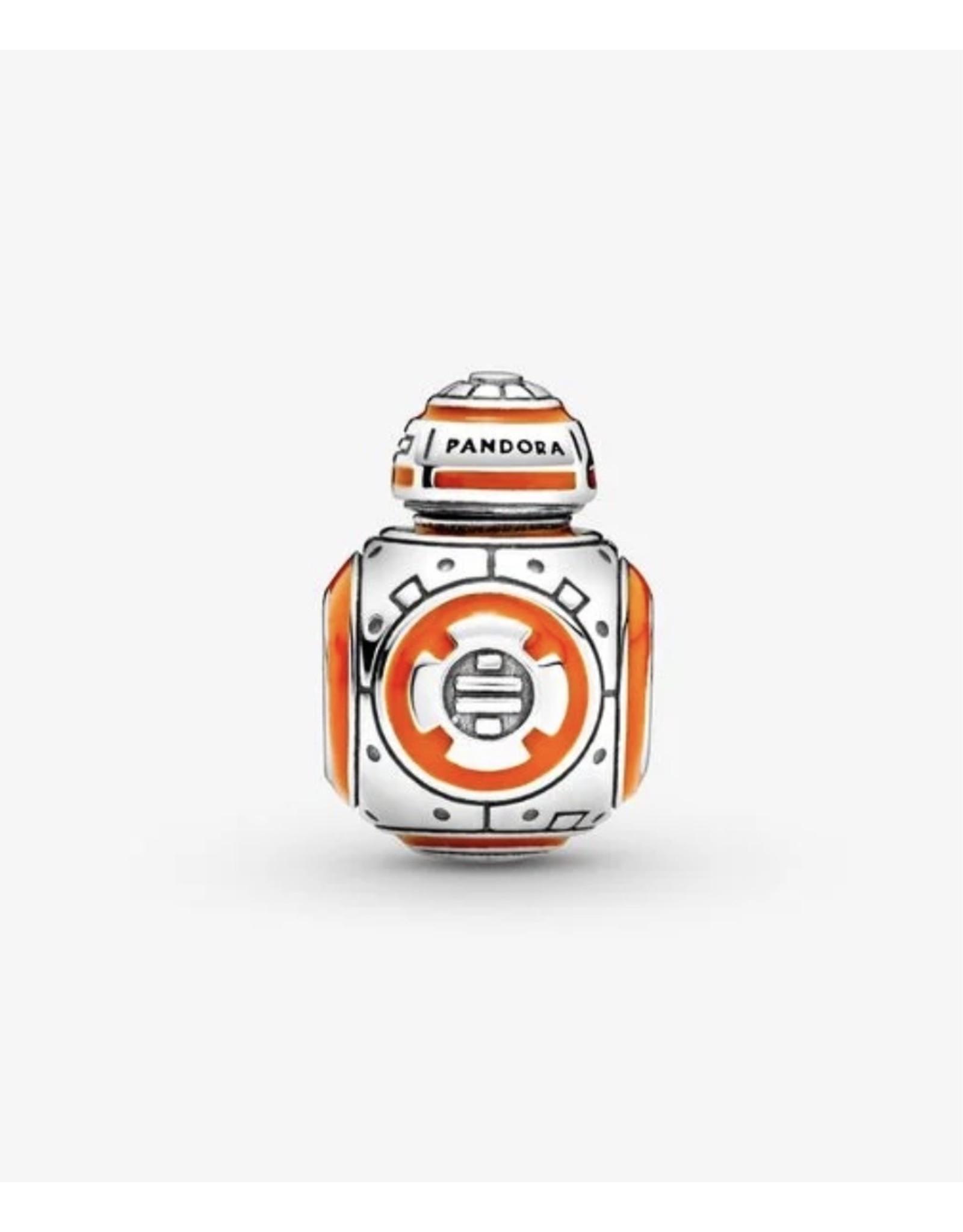 Pandora Pandora Charm,799243C01, BB-8, Black & Orange Enamel