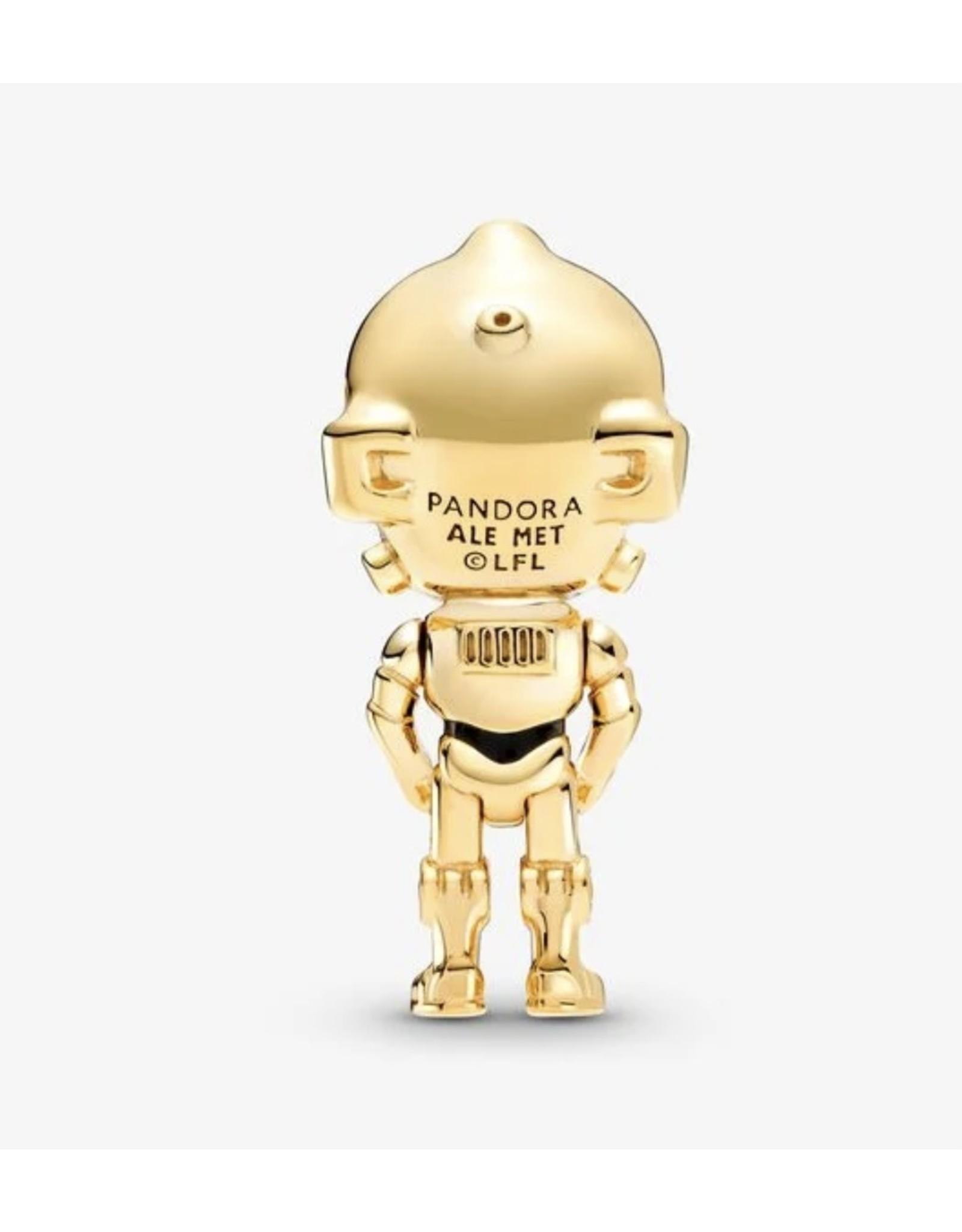Pandora Pandora Charm,769244C01, Star Wars C-3PO, Black Enamel