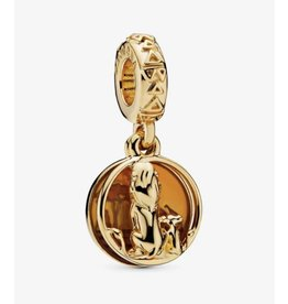 Pandora Pandora Charm,(768262ENMX) Disney Simba and Mufasa Pandora Shine dangle with orange enamel