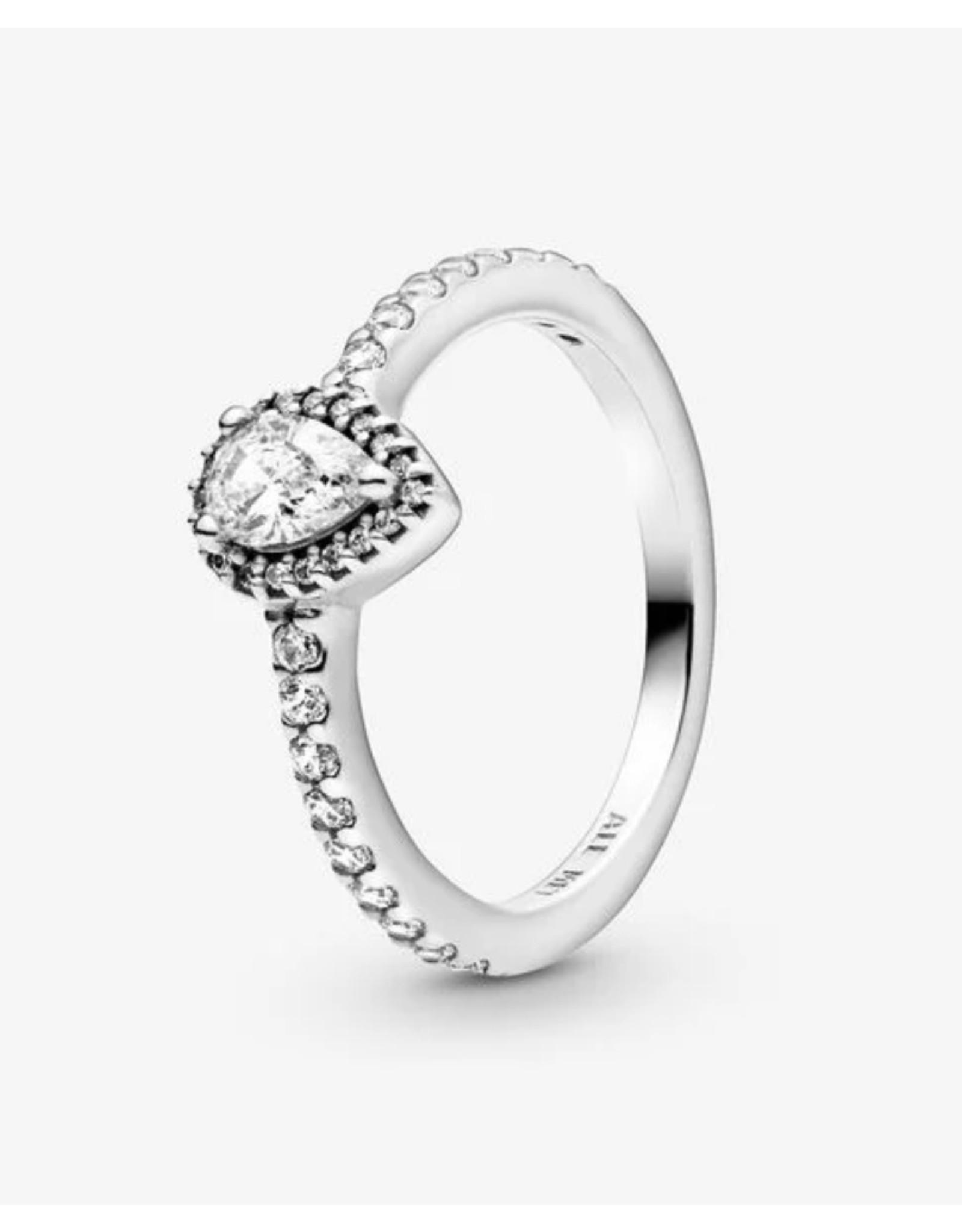 Pandora Pandora Ring,(196254CZ) Radiant Teardrop, Clear CZ