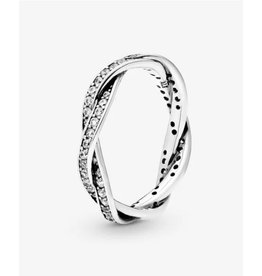 Pandora Pandora Ring,(190892CZ) Twist Of Fate, Clear CZ
