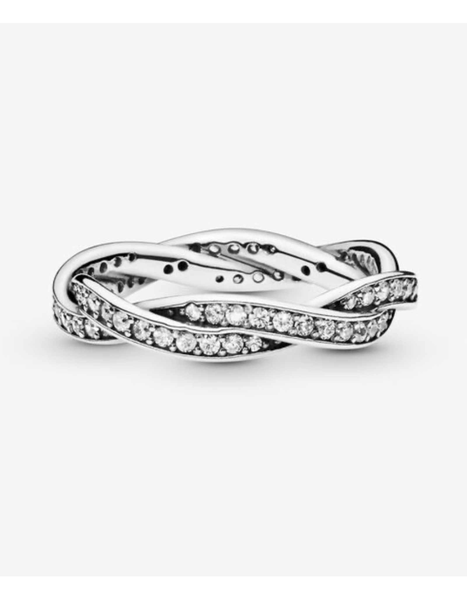Pandora Pandora Ring,(190892CZ) Twist Of Fate, Clear CZ
