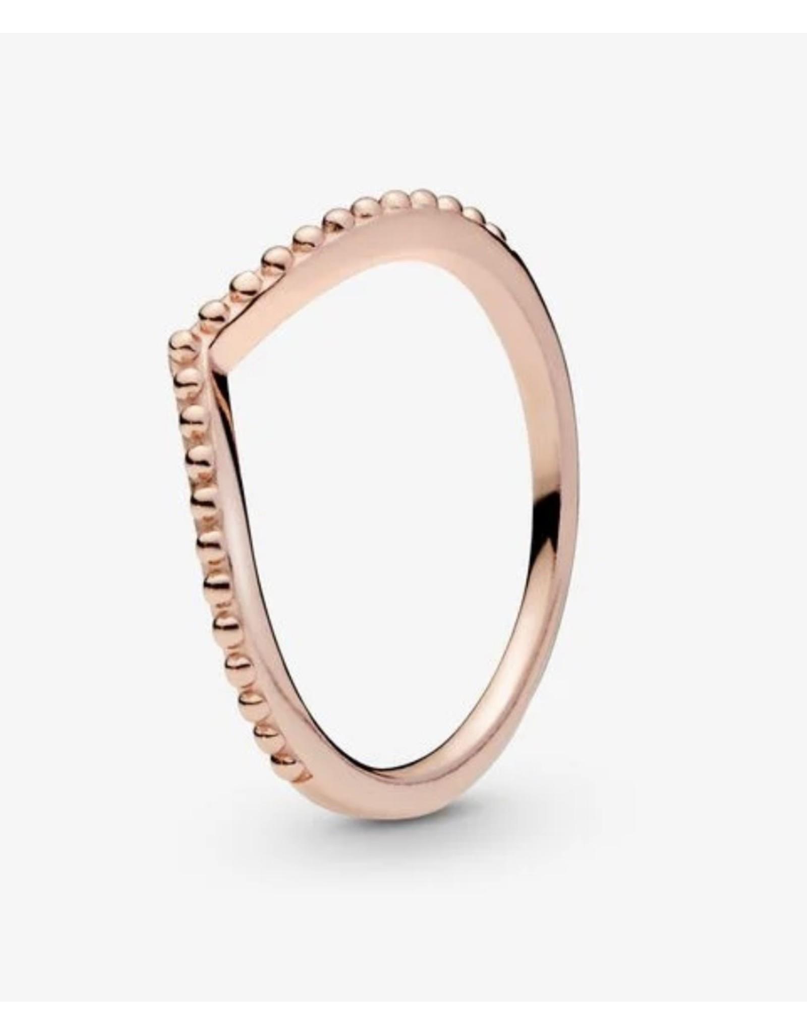 Pandora Pandora Ring,(186315) Rose Gold, Beaded Wish