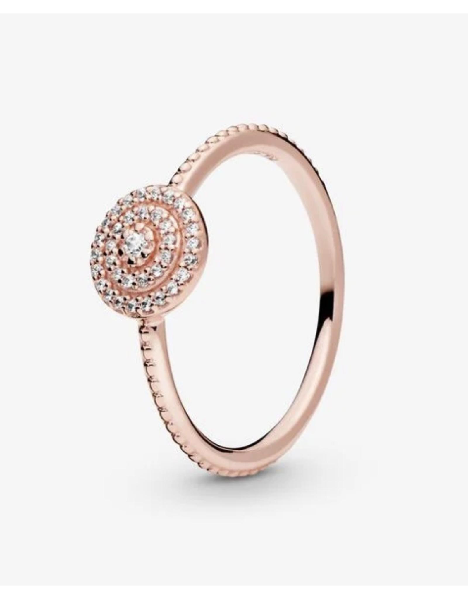 Pandora Pandora Ring,( 180986CZ) Rose Gold, Radiant Elegance, Clear CZ