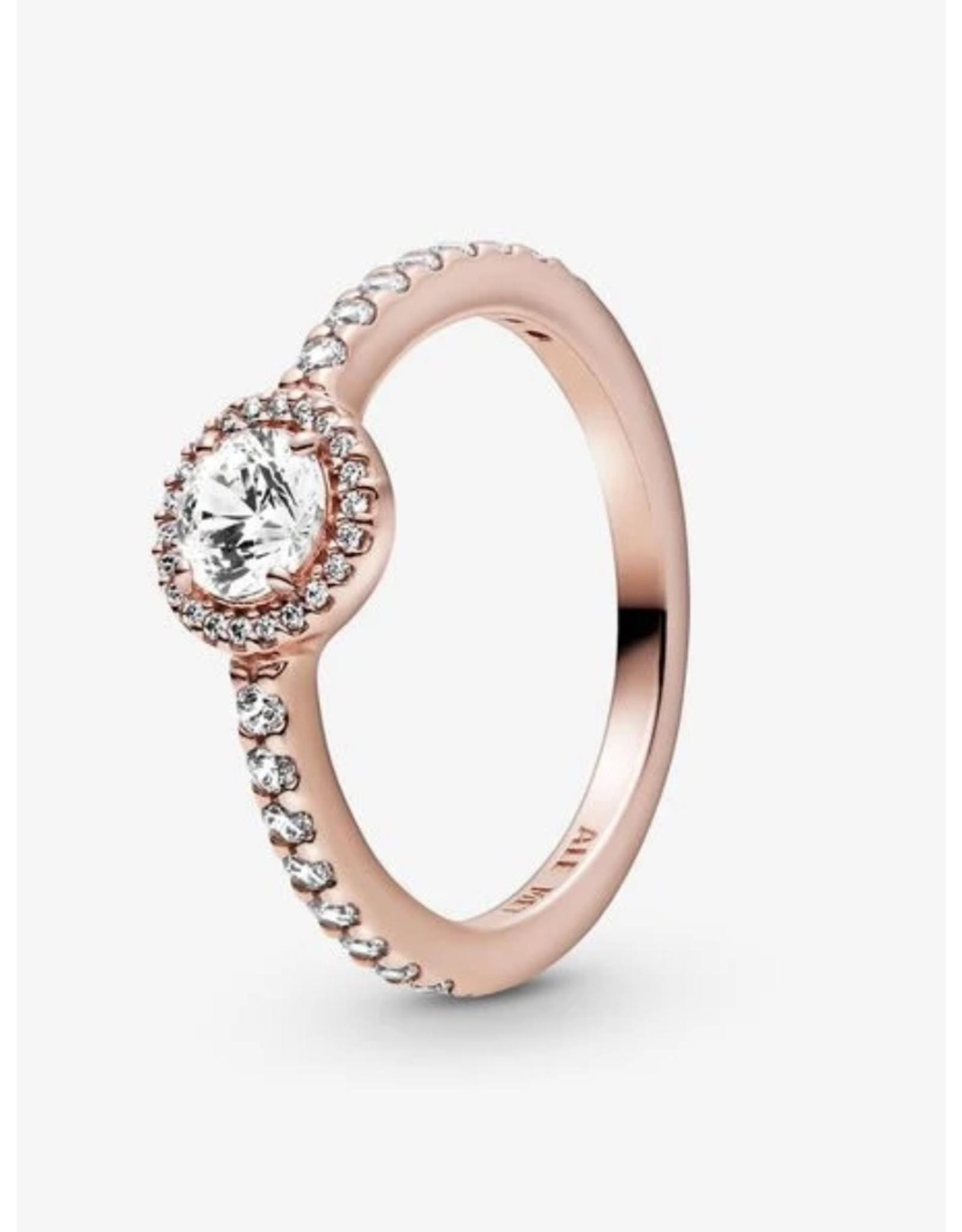 Pandora Pandora Ring,(180946CZ)  Rose Gold, Classic Elegance Clear CZ
