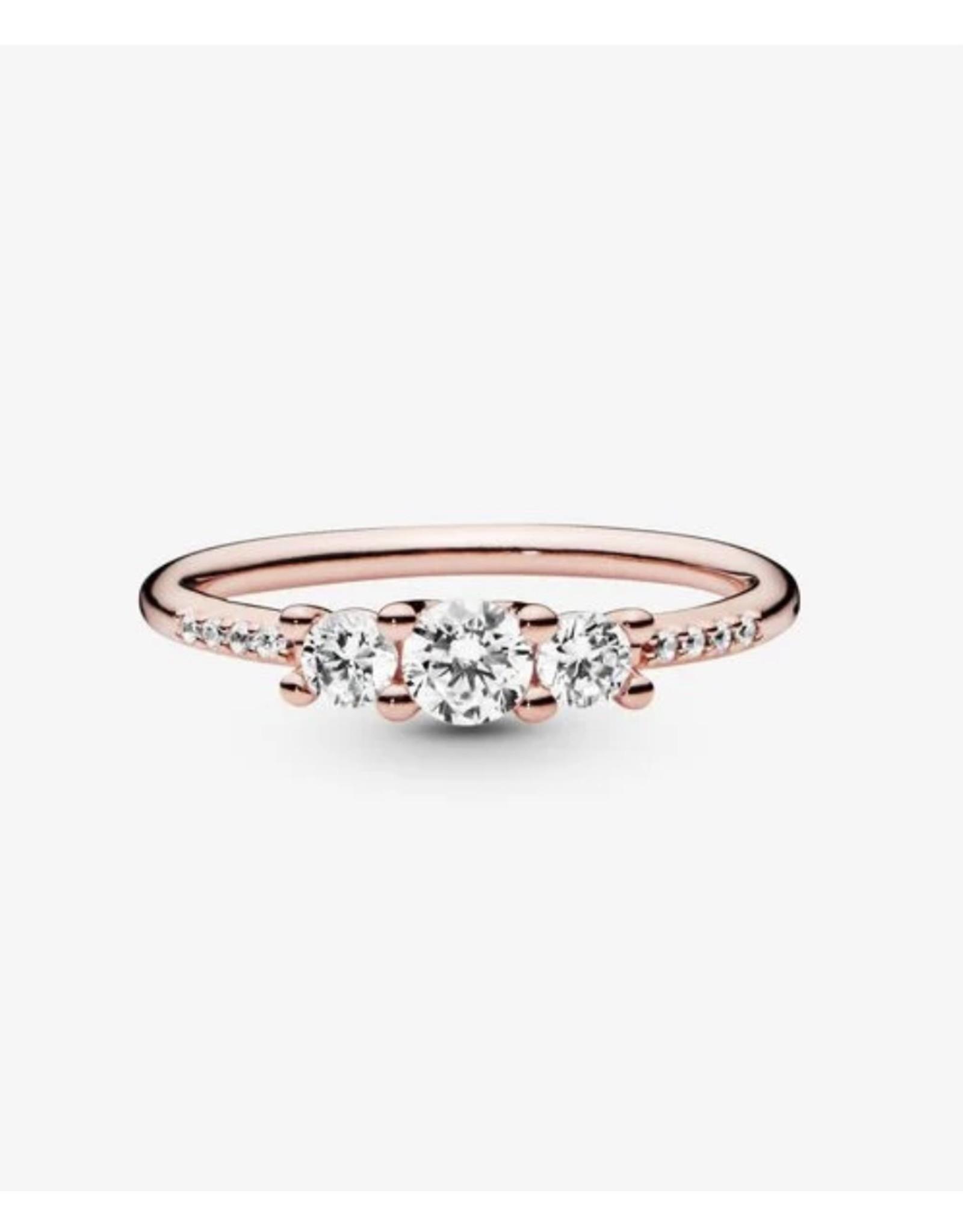 Pandora Pandora Ring,(186242CZ) Rose Gold, Sparkling, Elegance, Clear CZ