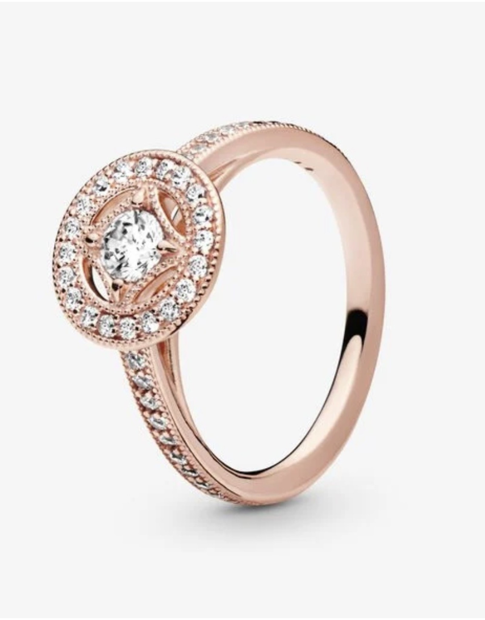 Pandora Pandora Ring, (181006CZ) Rose Gold, Vintage Allure, Clear CZ