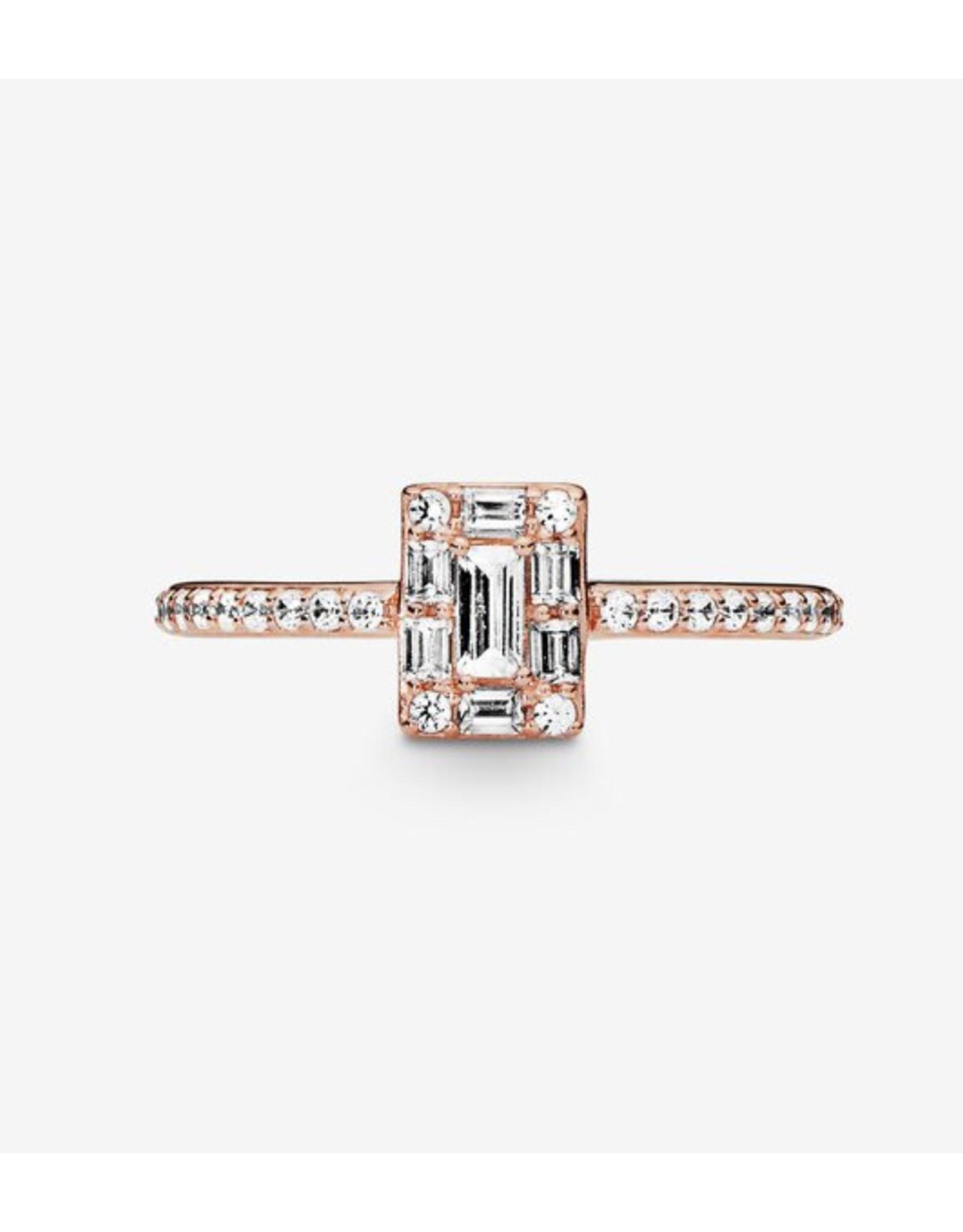 Pandora Pandora Ring, (187541CZ) Rose Gold, Luminous Ice, Clear CZ