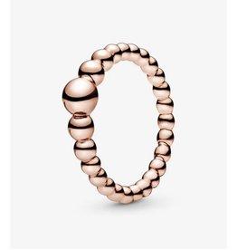 Pandora Pandora Ring,(187536) Rose Gold, String Of Beads