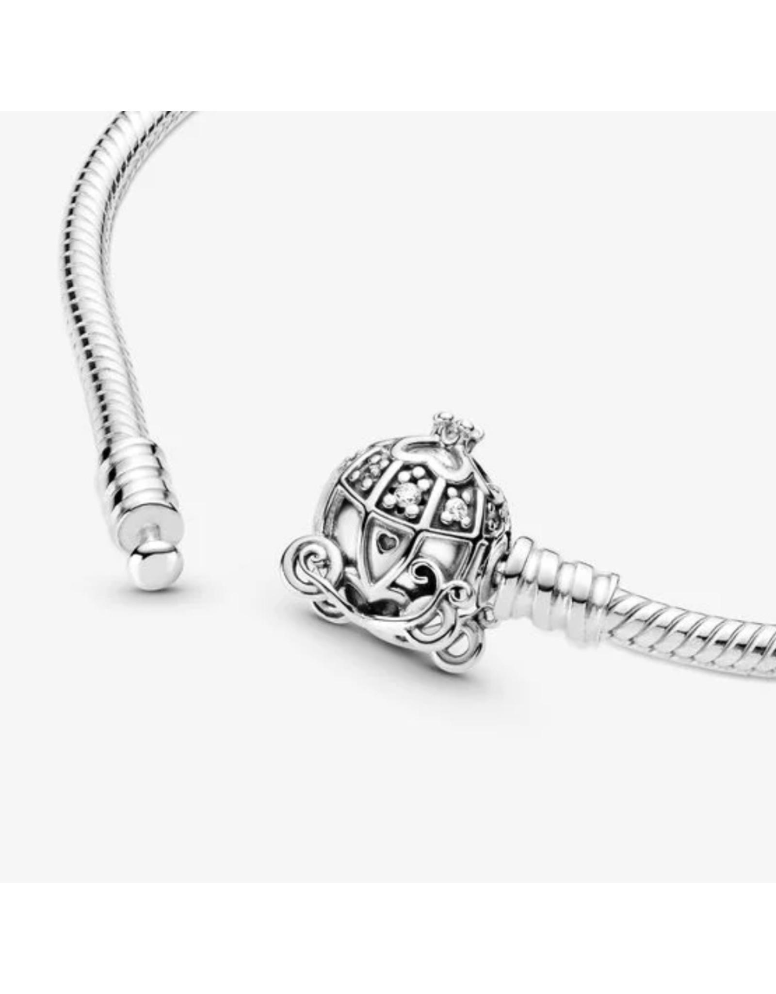 Pandora Pandora Bracelet,599190C01, Disney, Cinderella Pumpkin Coach Clasp