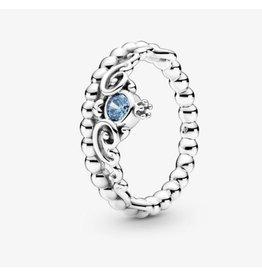 Pandora Pandora Ring, 199191C01, Disney, Cinderella Blue Tiara