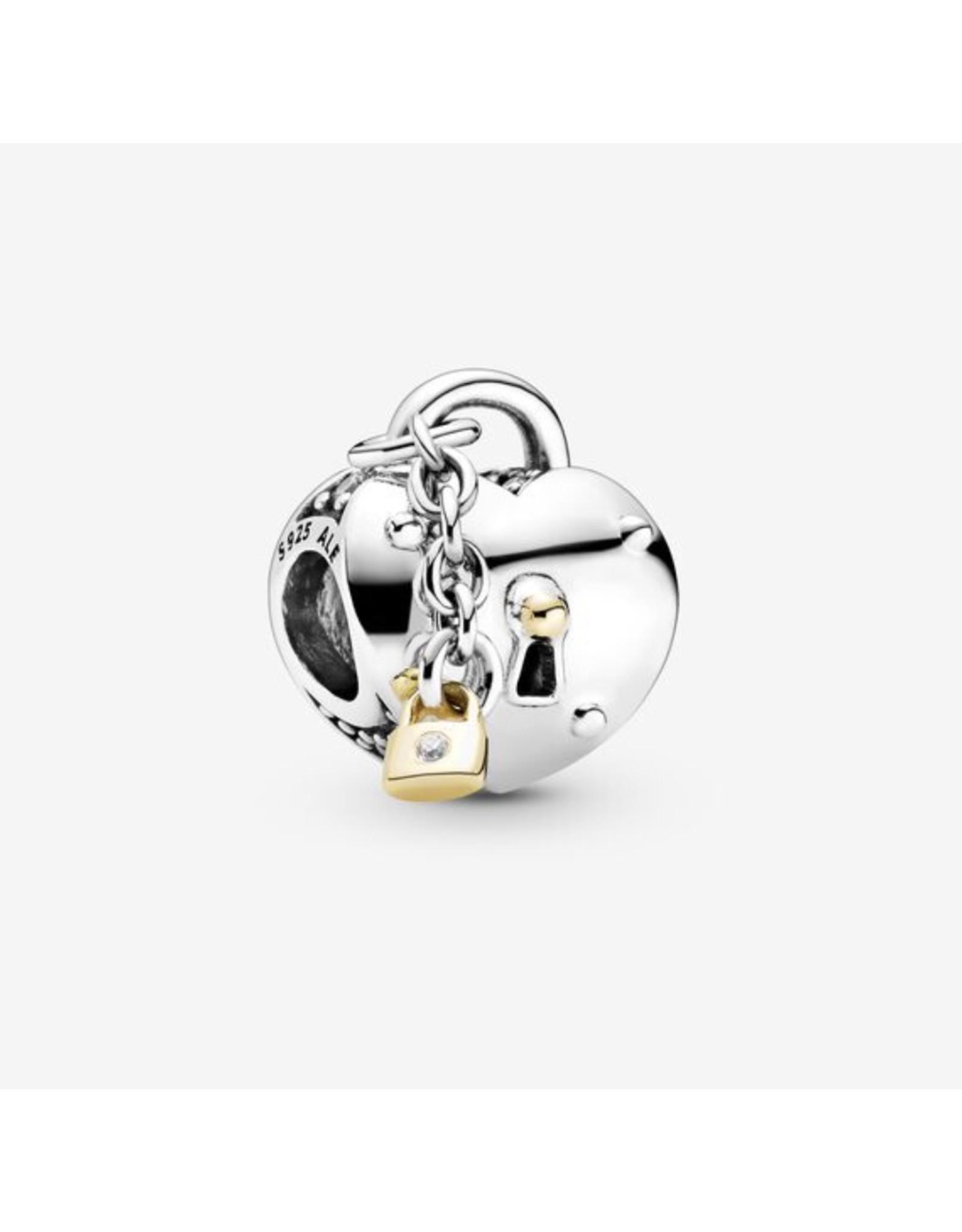 Pandora Pandora Charm,799160C01,Heart & Lock With 14K Gold