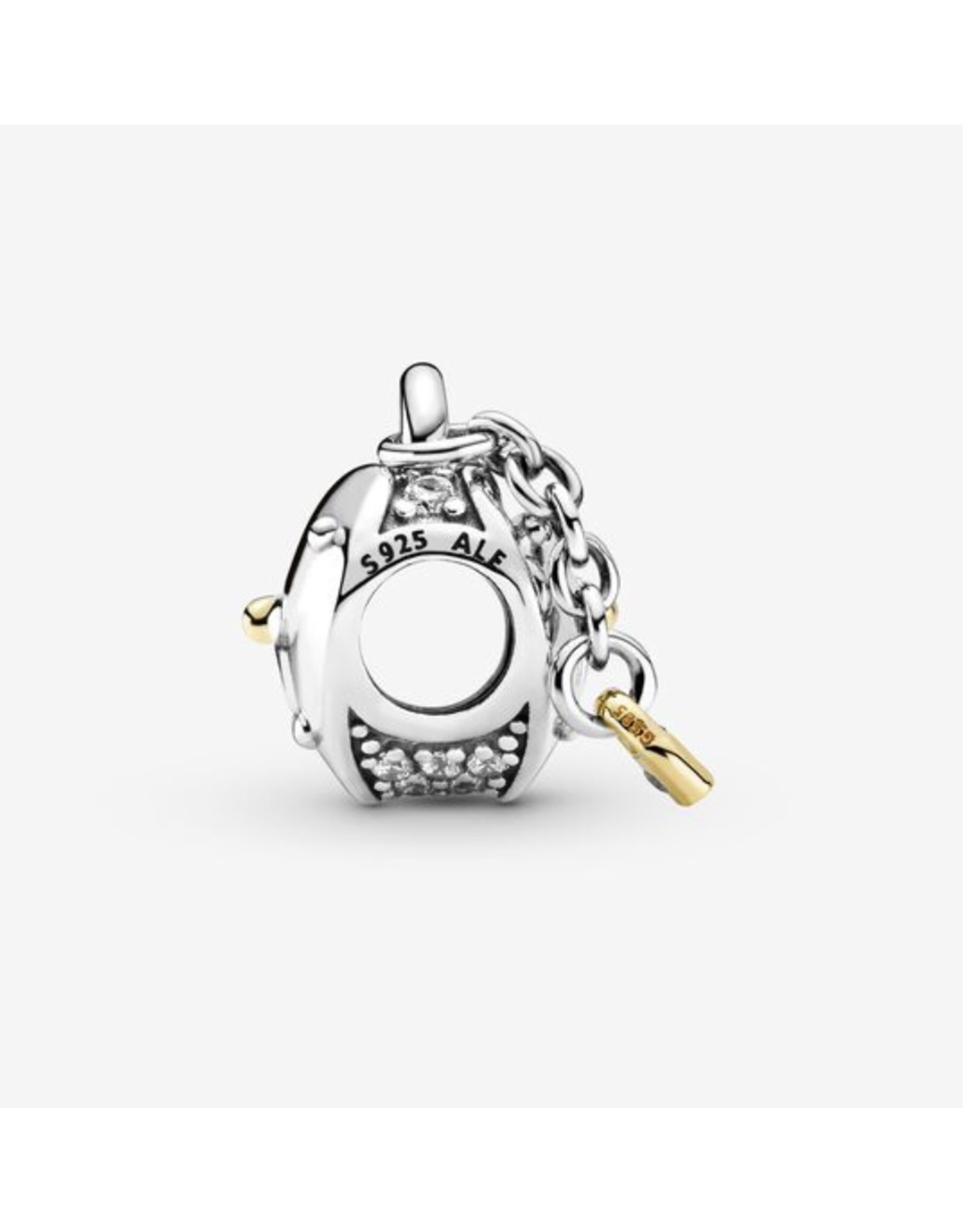 Pandora Pandora Charm,799160C01,Heart & Lock With 14K Gold