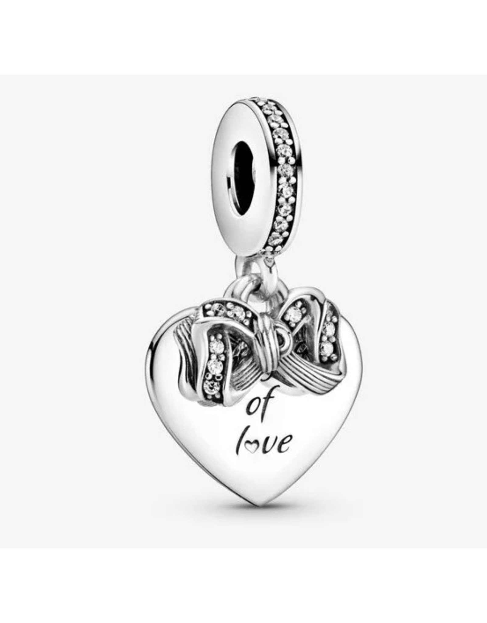 Pandora Pandora Charm,799221C01,Bow & Love Heart