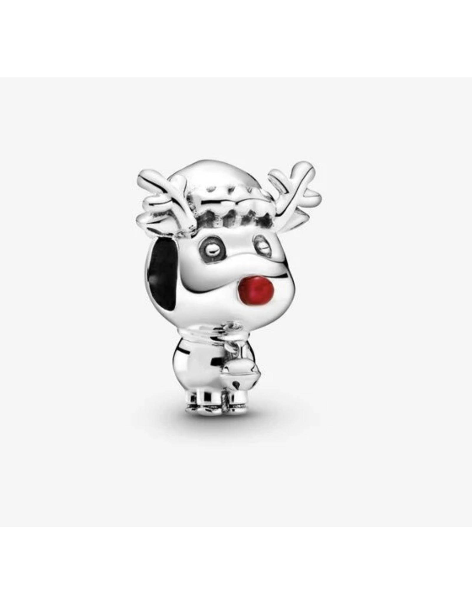 Pandora Pandora Charm,799208C01,Rudolph The Red Nose Reindeer