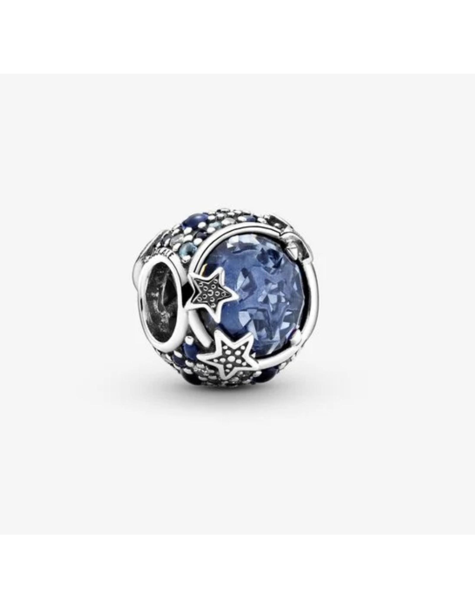 Pandora Pandora Charm,799209C01,Celestial Blue Sparkling Stars