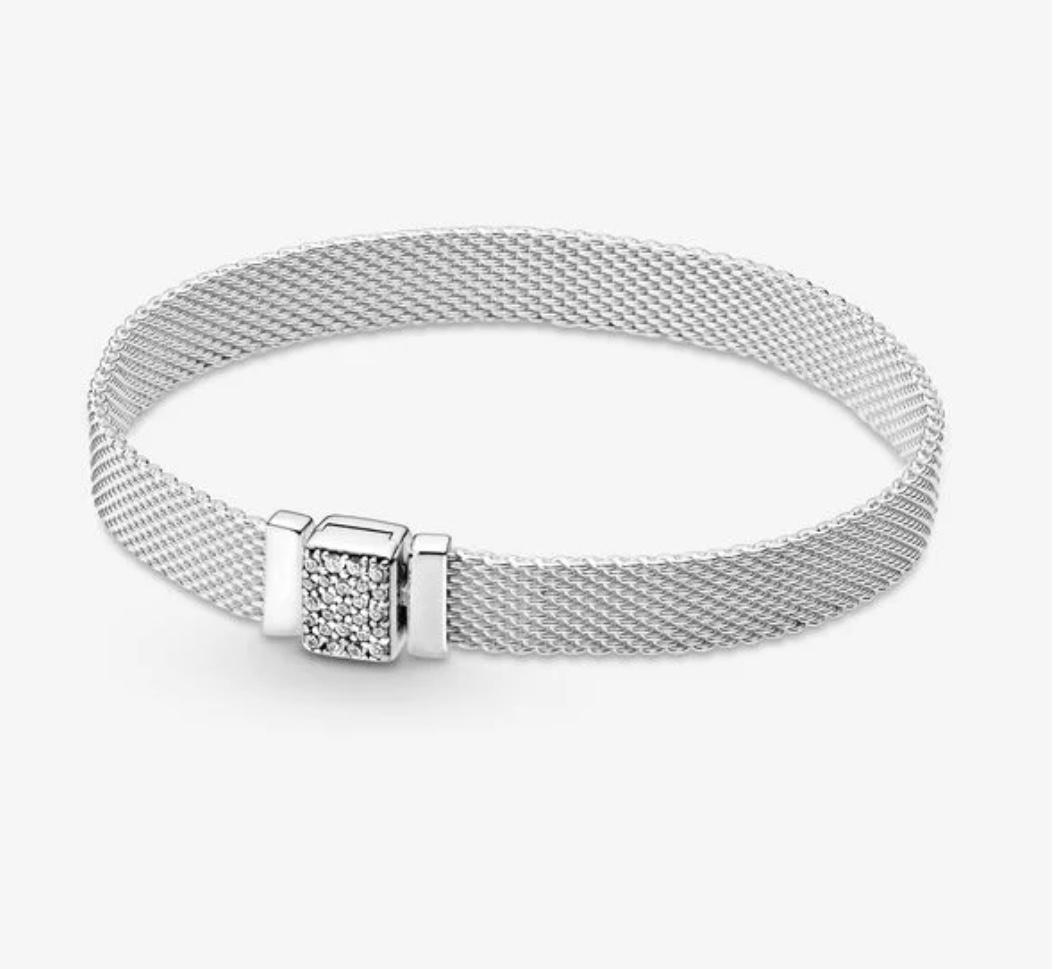 Pandora Bracelet,599166C01, Reflexions Sparkling Clasp