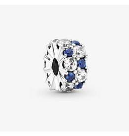Pandora Pandora Clip,799171C01,Clear & Blue Sparkling