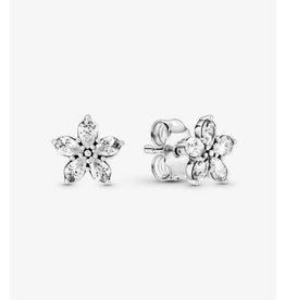 Pandora Pandora Earrings,299239C01, Sparkling Snowflake, Clear CZ
